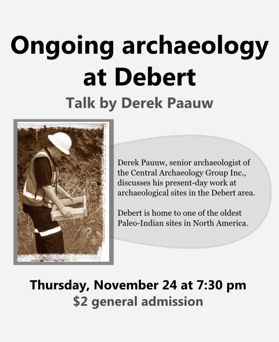 Ongoing archaeology at Debert