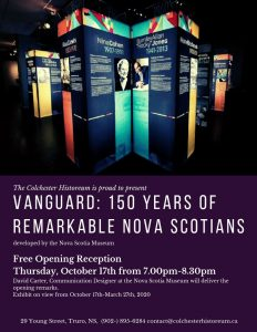 Free Opening Reception, 'Vanguard: 150 Years of Remarkable Nova Scotians'